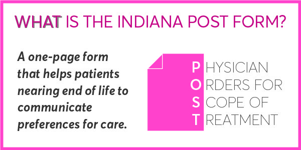 Indiana POST Form stands for Physicians Orders for Scope of Treatment