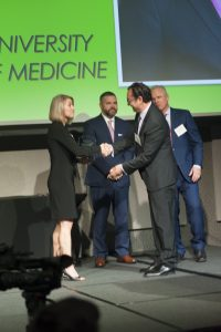 Dr. Boustani accepts award for improving lives of older adults