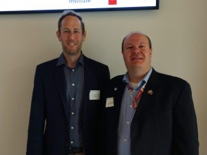 Dr. Buckeridge and Dr. Brian Dixon at population health informatics workshop