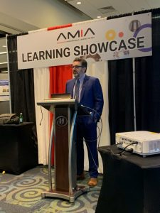 Dr. Peter Embi gives learning showcase on Regenstrief at AMIA 2019